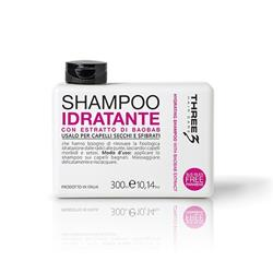 THREE HAIR CARE SHAMPOO IDRATANTE AL BAOBAB